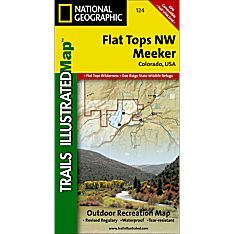 124 Flat Tops Nw/Meeker Trail Map, 1996