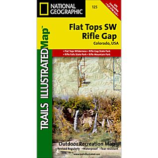 National Geographic Flat Tops SW/Rifle Gap Trail Map