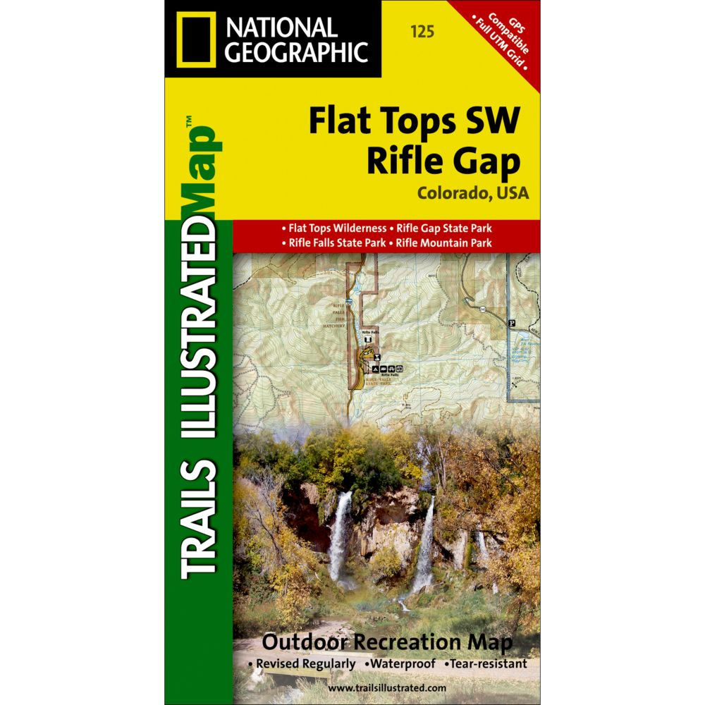 photo: National Geographic Flat Tops SW/Rifle Gap Trail Map  us mountain states paper map