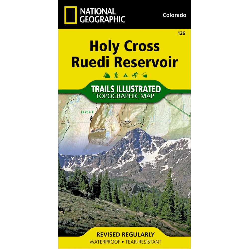 photo: National Geographic Holy Cross/Ruedi Reservoir Trail Map  us mountain states paper map
