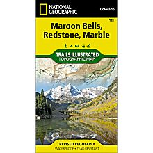 128 Maroon Bells/Redstone/Marble Trail Hiking Map