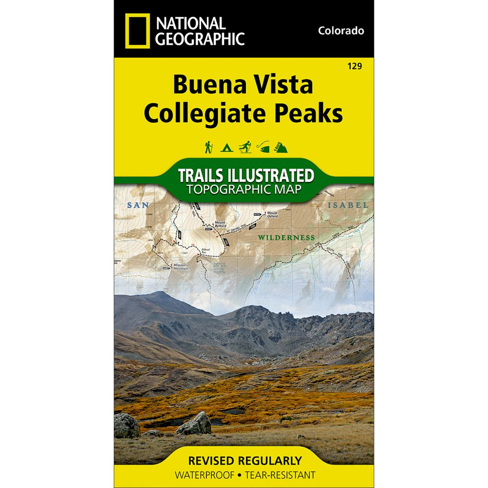 National Geographic Buena Vista/Collegiate Peaks Trail Map