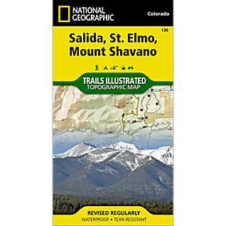 130 Salida/St. Elmo/Shavano Peak Trail Map