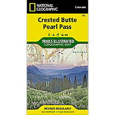 131 Crested Butte/Pearl Pass Trail Hiking Map