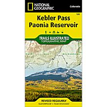 133 Kebler Pass/Paonia Reservoir Trail Hiking Map