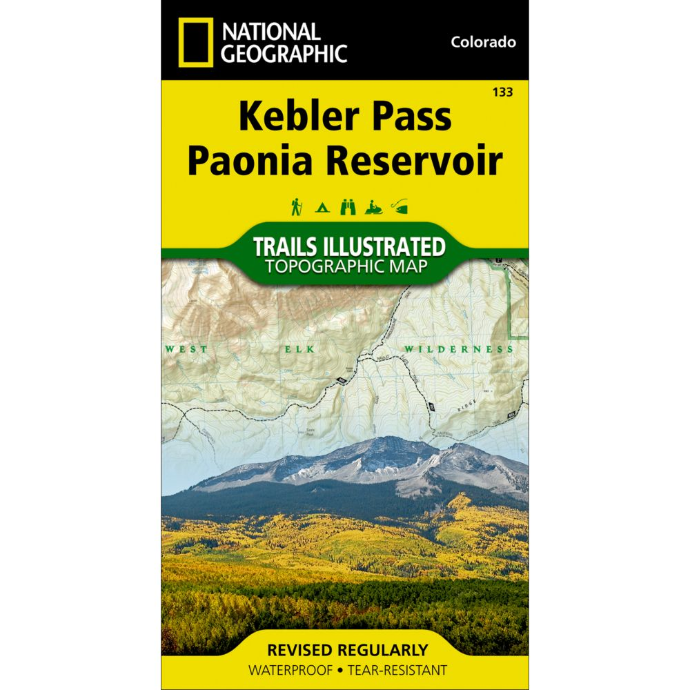 photo: National Geographic Kebler Pass/Paonia Reservoir Trail Map  us mountain states paper map