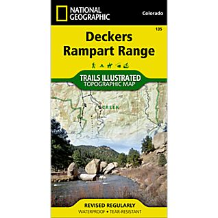 135 Deckers, Rampart Range Trail Map
