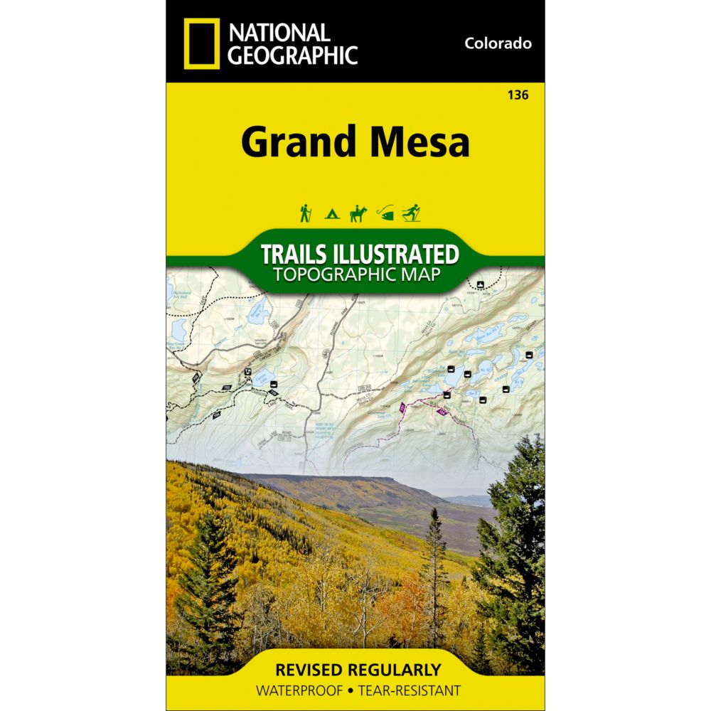 photo: National Geographic Grand Mesa Trail Map