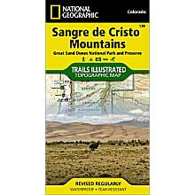 138 Sangre De Cristo Mountains Trail Hiking Map