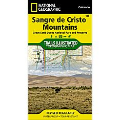 138 Sangre De Cristo Mountains Trail Map