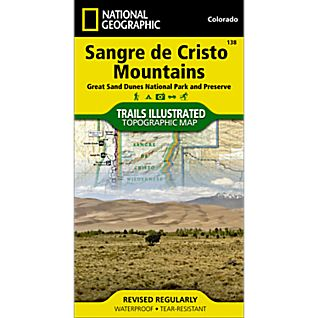 photo: National Geographic Sangre De Cristo Mountains Trail Map