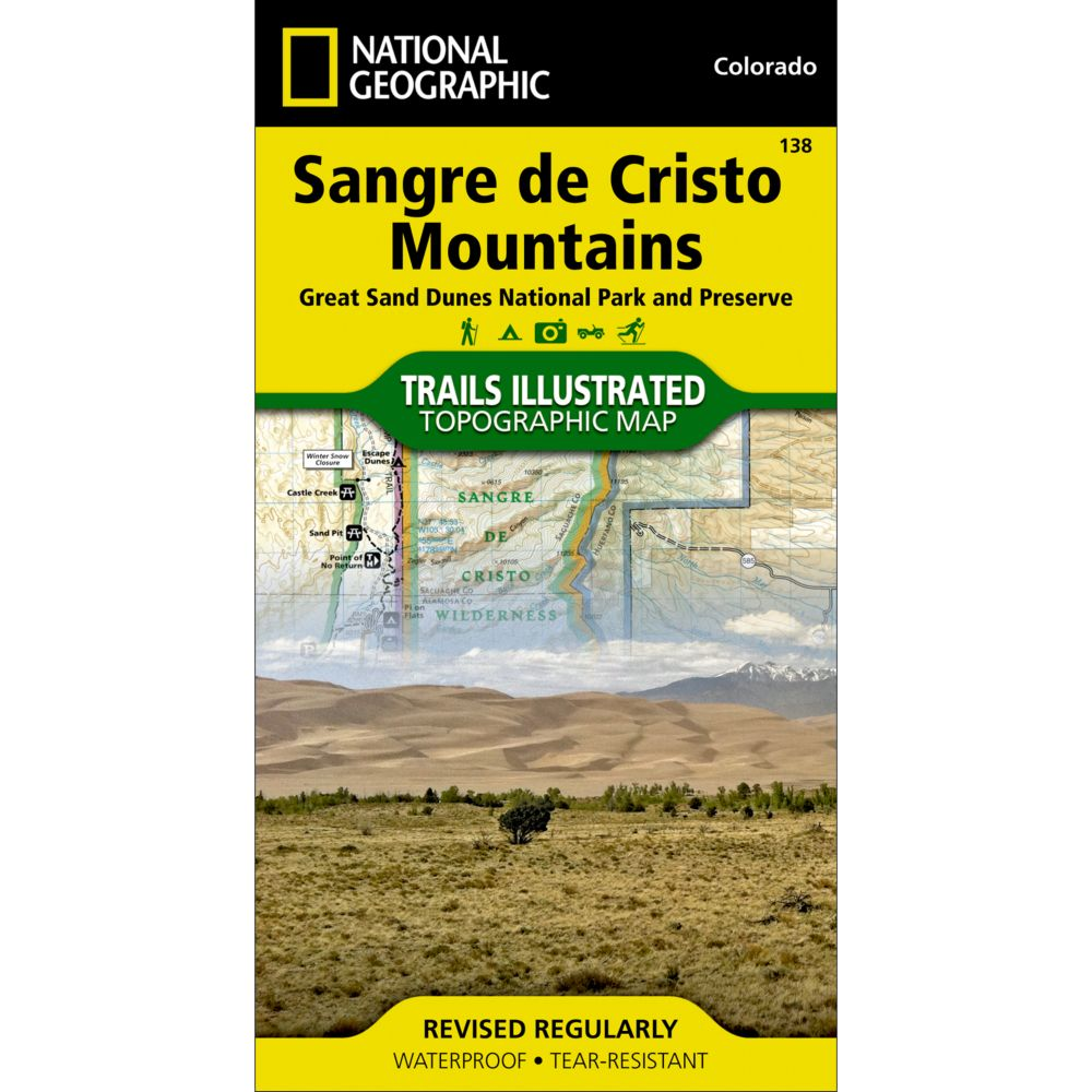 National Geographic Sangre De Cristo Mountains Trail Map