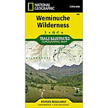140 Weminuche Wilderness Trail Map