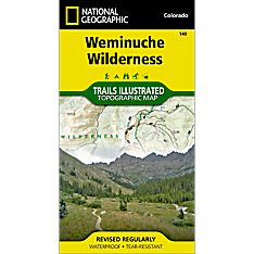 140 Weminuche Wilderness Trail Hiking Map