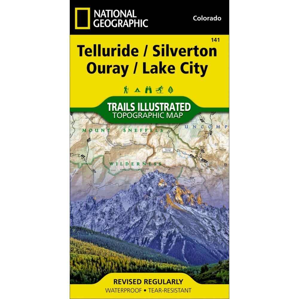 National Geographic Silverton/Ouray/Telluride/Lake City Trail Map