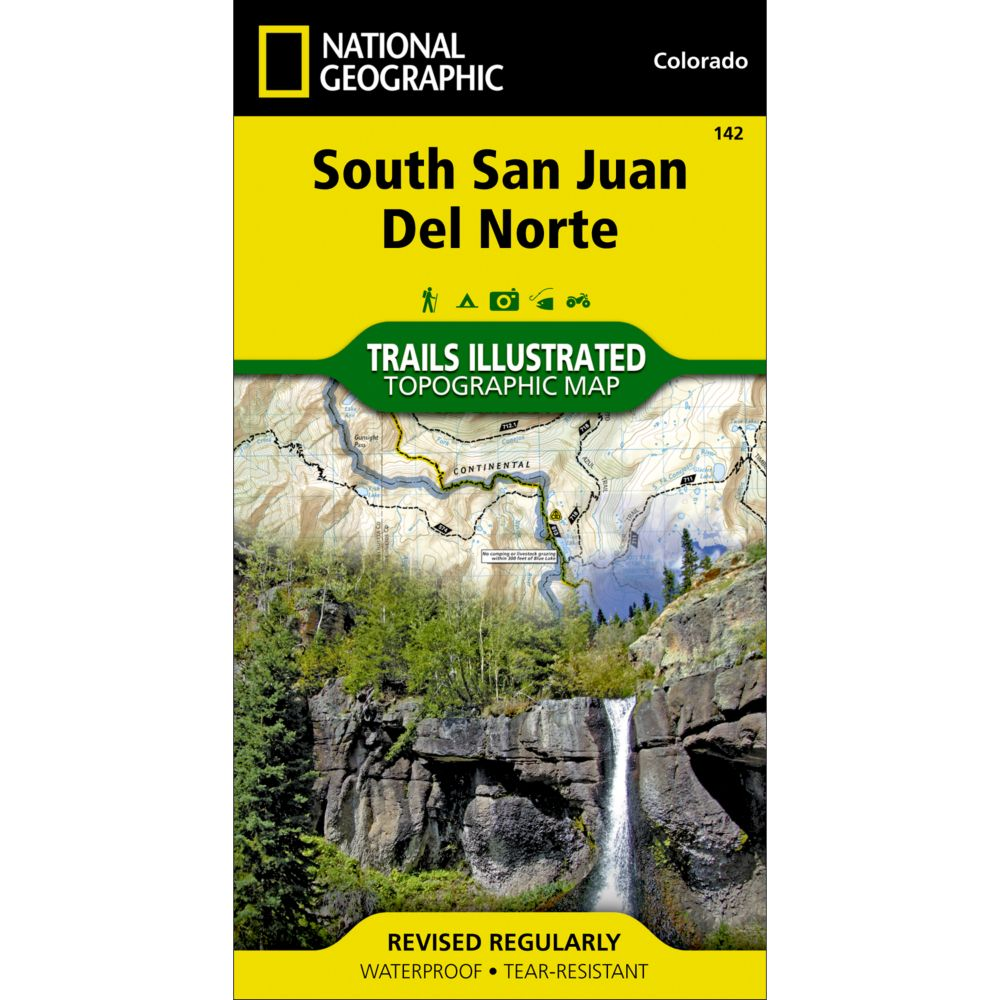 photo: National Geographic South San Juan/Del Norte Map us mountain states paper map