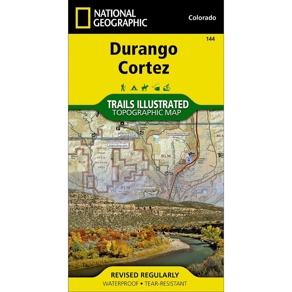 photo: National Geographic Durango/Cortez Trail Map