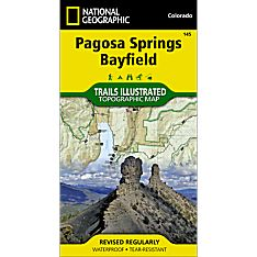 145 Pagosa Springs and Bayfield Area Trail Map