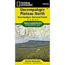 147 Uncompahgre Plateau, North Trail Map