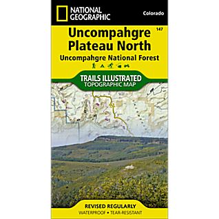 View 147 Uncompahgre Plateau, North Trail Map image