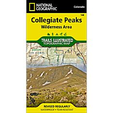 148 Collegiate Peaks Wilderness Area Trail Map