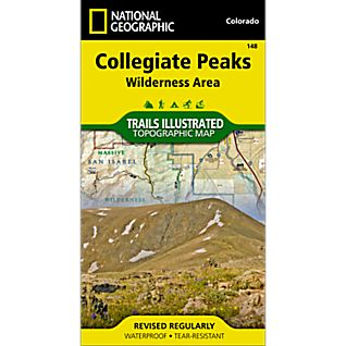 148 Collegiate Peaks Wilderness Trail Map