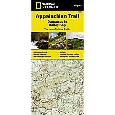 1503 Appalachian Trail, Damascus to Bailey Gap (Virginia) Trail Map