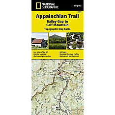 1504 Appalachian Trail, Bailey Gap to Calf Mountain (Virginia) Trail Map