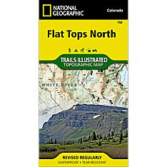 150 Flat Tops North Trail Map, 2014