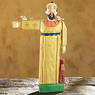 Hand-carved Guatemalan St. Francis Sculpture