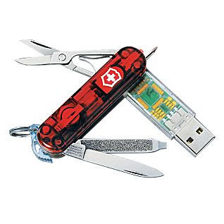 Swiss Army Multitool with 4GB USB Drive