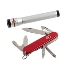 Swiss Army Flashlight and Multitool Set