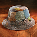 Donegal Tweed Wool Patchwork Walking Hat