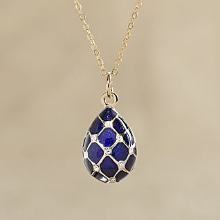 Fabergé-inspired Egg Necklace