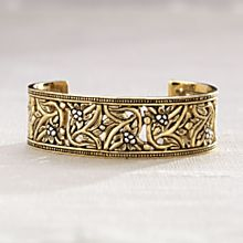 Handcrafted Bronze and Sterling Silver Balinese Cuff