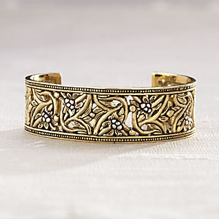 Bronze and Sterling Silver Balinese Cuff