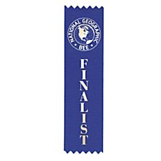 National Geographic Bee Finalist Ribbon