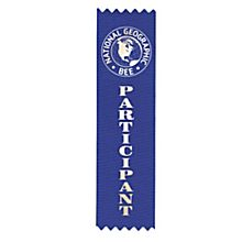 National Geographic Bee Participant Ribbon