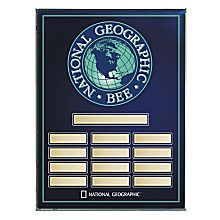 National Geographic Bee Award Plaque - Blank