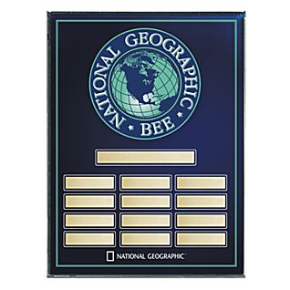 View National Geographic Bee Award Plaque - Blank image