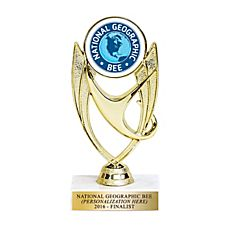 National Geographic Bee Trophy - Personalized, Finalist