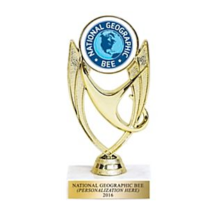 View National Geographic Bee Trophy - Personalized image