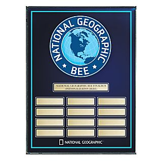 National Geographic Bee Award Plaque - Personalized