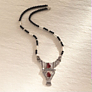 Silver and Onyx Tuareg Necklace
