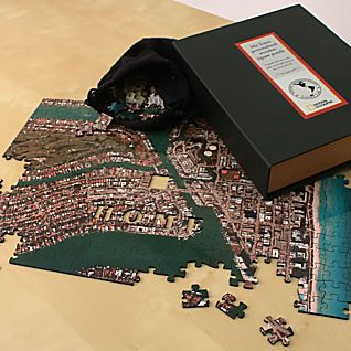 ''My Town'' Custom Aerial Map Wooden Jigsaw Puzzle
