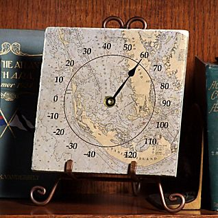 Personalized Nautical Chart Thermometer