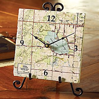 View National Geographic ''My Town'' Map Clock image