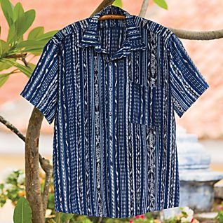 View Men's Guatemalan Ikat Shirt image