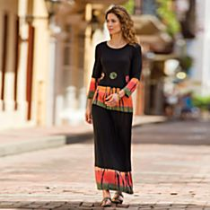 Travel Black Casual Dress