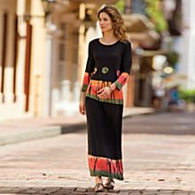 Black Bandhani Skirt